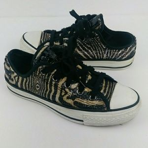 Converse All Star Sequined Sneakers Tiger Low Top